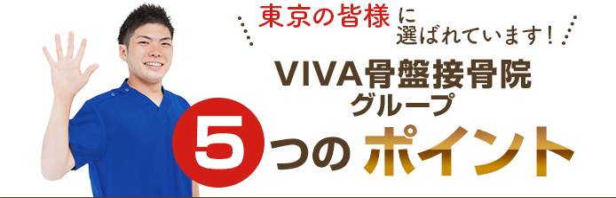VIVA骨盤接骨院恵比寿院が選ばれる5つのpoint